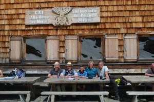 Stettiner Hütte mit Wöff, Sabine, Lenny und Siggi